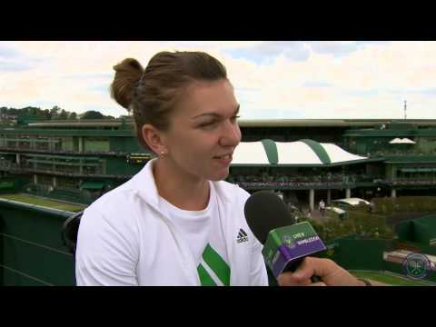 Simona Halep on a 'difficult' match - Wimbledon 2014