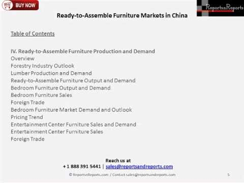 2023 Analysis of China Ready-to-Assemble Furniture Market