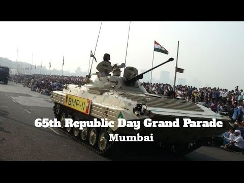 Republic Day Grand Parade Marine Drive Mumbai India 26th Jan 2014 Full Coverage [FULL HD]