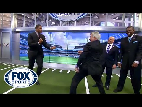 Jimmy Johnson and Michael Strahan get heated