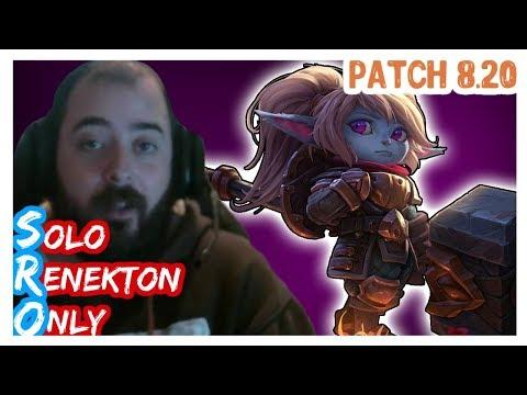 POPPY vs AATROX | SoloRenektonOnly | POPPY Top | FULL GAME | Full Gameplay | LOL Patch 8.20
