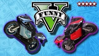 GTA 5 Funny Moments: FUN With Bikes Extreme DownHill