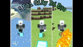 CHẾ TẠO 3 ĐÔI GIẦY CÓ THỂ ĐI RA LỬA,BĂNG,KIM CƯƠNG TRONG MCPE 1.1.0.3 | Minecraft PE 1.1.0.3
