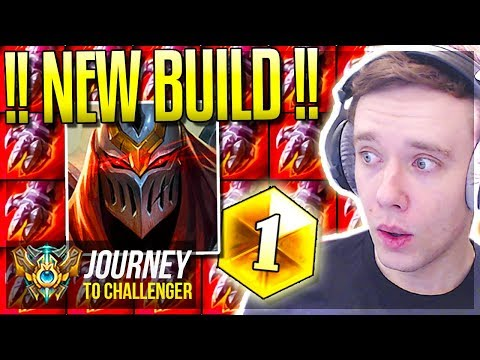 I FOUND THE NEW OP ZED BUILD!!!! FREELO - Journey To Challenger | League of Legends