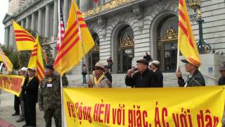 Bị biểu tình, CSVN hủy bỏ Lễ Thượng Kỳ CSVN tại City Hall San Francisco