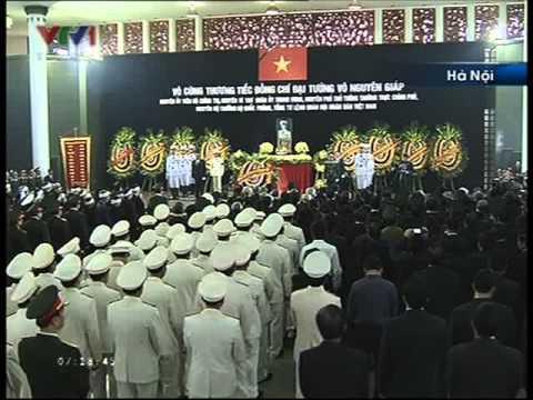 Lễ quốc tang đại tướng võ nguyên giáp ngày 13/10/2013