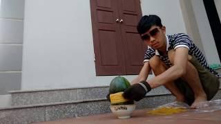 Thử Buộc 1.000 Dây Chun Vào Quả Dưa Hấu - Rubberband vs Watermelon | PHD ✔
