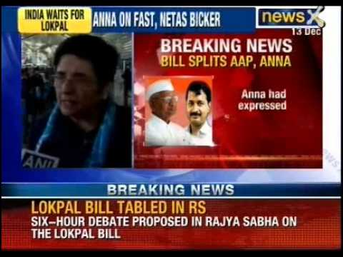 Jan Lokpal bill splits AAP, Anna Hazare. Anna expresses satisfaction on the draft bill