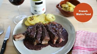 Ribeye Steak With Red Wine Sauce - French Bistro Food