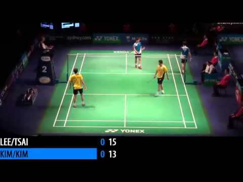 2014 THE STAR AUSTRALIAN BADMINTON OPEN - SF - MD - Lee S.M. / Tsai C.H. vs Kim K.J. / Kim S.R.