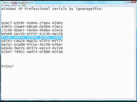 Windows xp home edition license key generator