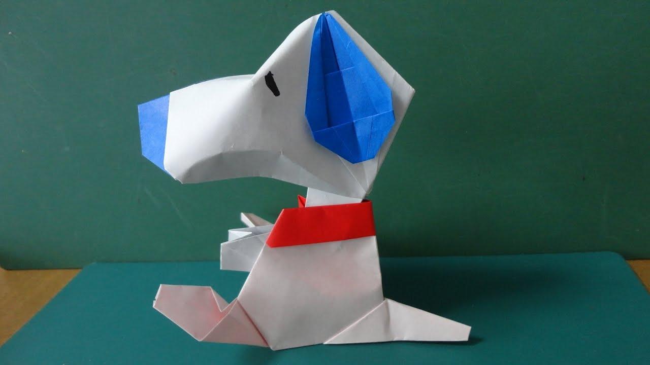 すべての折り紙 折り紙パンダ顔折り方 : Snoopy Origami