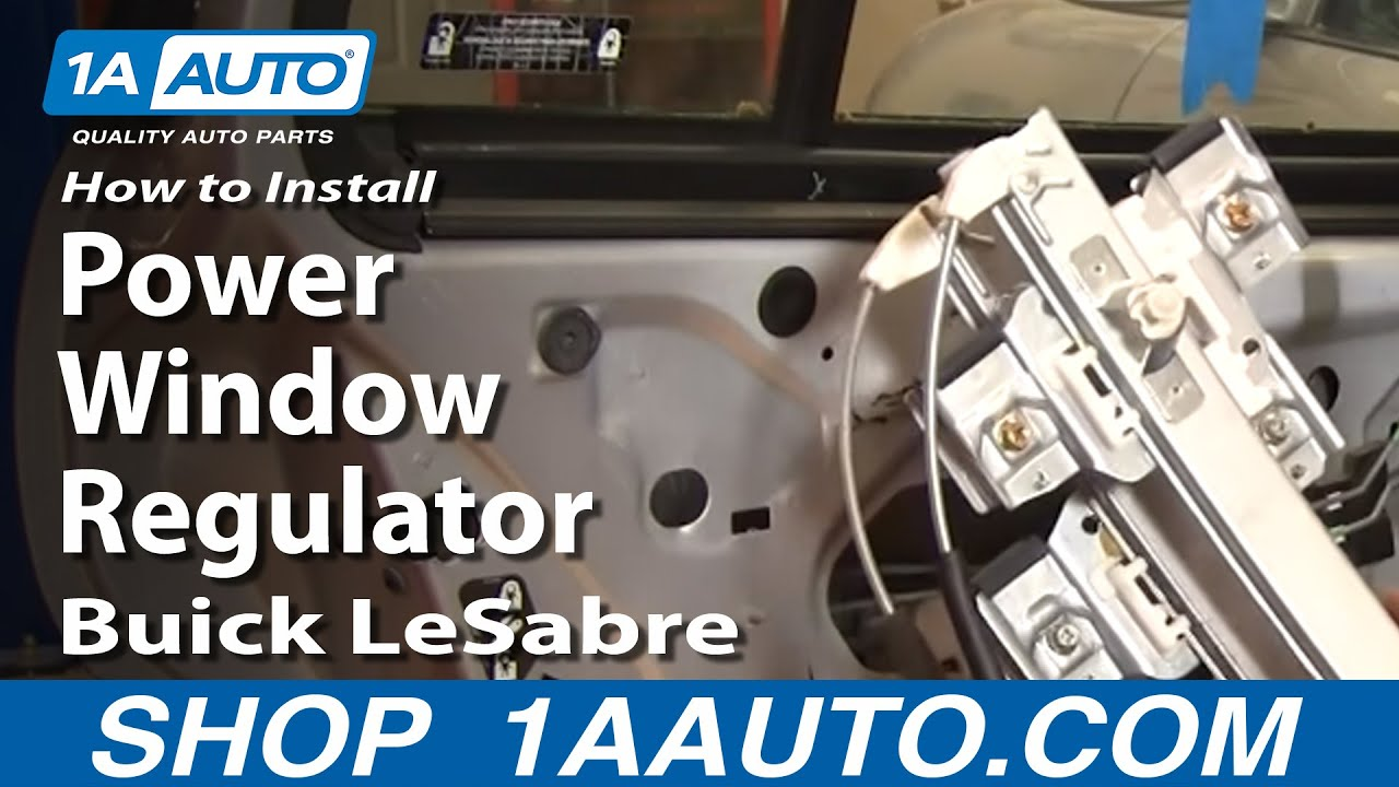 How to install replace rear power window regulator buick for 2000 buick lesabre window regulator replacement