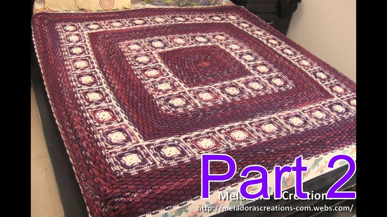 Basket Weave Afghan Crochet Pattern : Basket Weave Granny Afghan pt 2 - How to Connect Granny ...