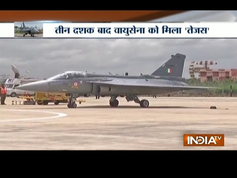 HAL Tejas supersonic fighter jets inducted into Indian Air Force