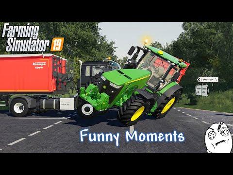Funny Moments & Crash Compilation - Farming Simulator 19 Multiplayer