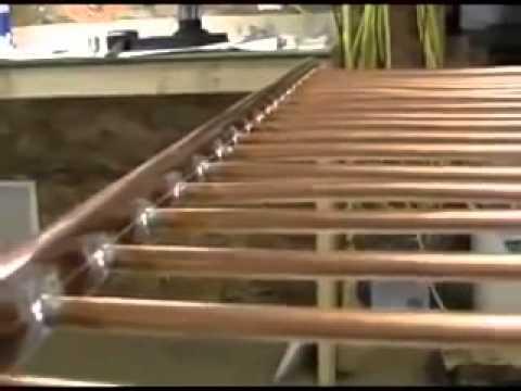 fabriquer un panneau solaire thermique youtube. Black Bedroom Furniture Sets. Home Design Ideas
