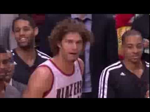 Robin Lopez Sideline Celebration Talk Of Trail Blazers Practice