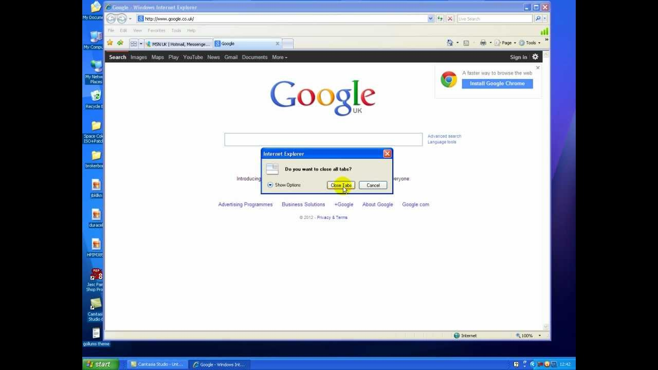 how to make google your homepage on internet explorer