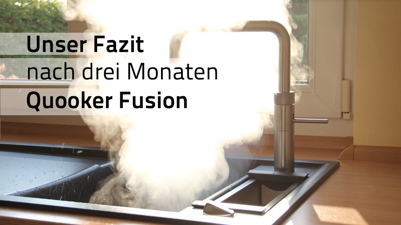 fazit drei monate mit dem kochend wasserhahn quooker fusion youtube. Black Bedroom Furniture Sets. Home Design Ideas