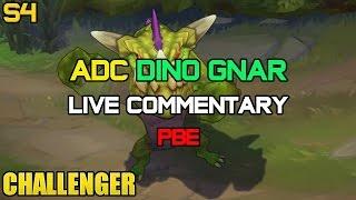 Challenger ADC Dino Gnar Ep. 12 PBE LIVE Gameplay