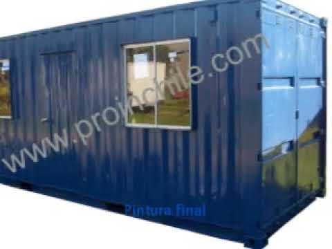 Fabricacion de un container habitable uso oficina www proinchile yo - Acheter un container habitable ...