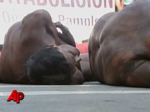Raw Video: PETA Activists Protest Bullfighting on YouTube