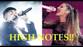Male Singers Hitting Female Singers HIGH NOTES!!
