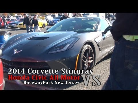 2014 Corvette Stingray vs Honda Civic All Motor