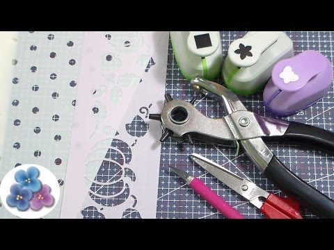 Como Hacer Plantillas Decorativas *How to Make a Stencil* Tutorial Español Pintura Facil