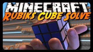 Minecraft: RUBIK'S CUBE SOLVED! (Sethbling's Creation)