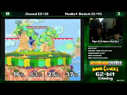 SSBM 2v2 Zoned vs Nudist Beach April Gameclucks Losers Finals