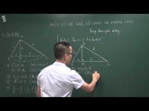 Một số hệ thức về cạnh và đường cao trong tam giác vuông - Thầy Nguyễn Cao Cường
