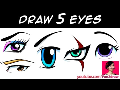 HOW TO DRAW 5 EYES   Art Drawing Tutorial!