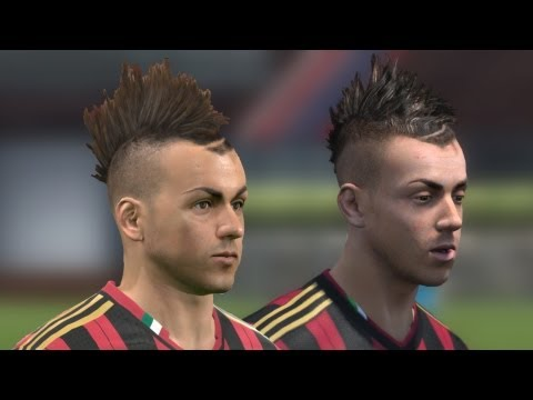 FIFA 14 vs PES 14 Head to Head Faces (3 angles view) | AC Milan | HD 1080p