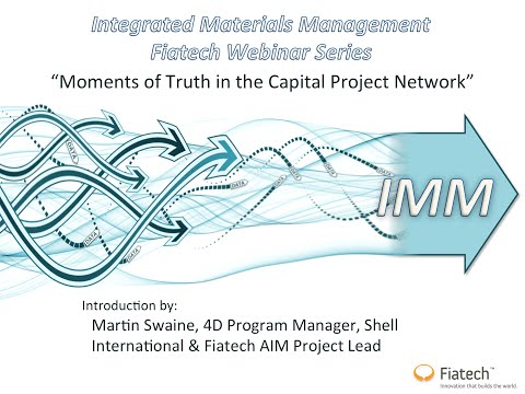 Fiatech and E2open Integrated Materials Management Webinar 8-5-14