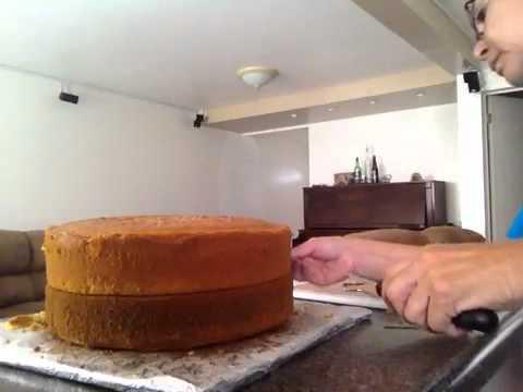 Como cortar pastel chueco
