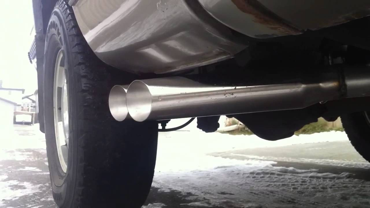 98 Chevy Silverado Custom Side Exit Exhaust - YouTube