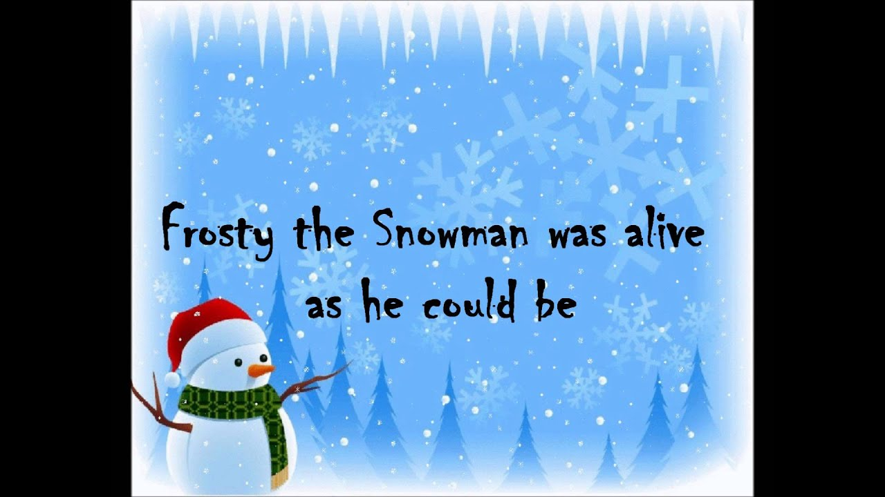 frosty the snowman lyrics pdf