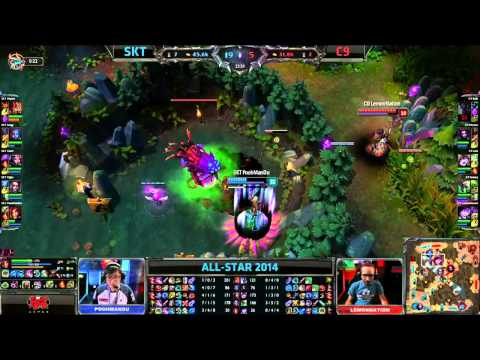 SKT-T1 (Piglet Vayne) VS C9 (Sneaky Twitch) Highlights - Allstars Paris 2014