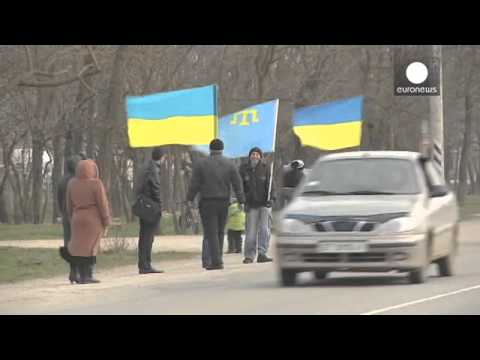 Security tight in Crimea ahead of break away vote / Crimean Tatars / Euronews 15/03/2014