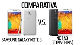 Comparativa Samsung Galaxy Note 3 Vs No1 N3 (copia China