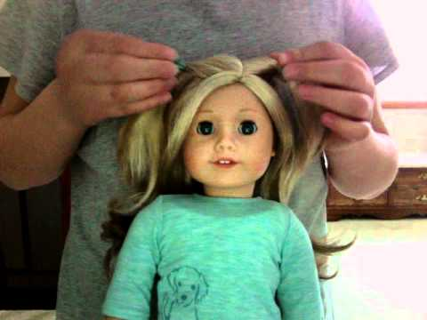 cute hairstyles for black females : Cute Hairstyles on my American Girl Doll Ali - YouTube