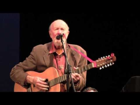 Pete Seeger American Folk Musician Performs at Columbia University - New York City