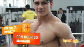 Treino de ombros com Rodrigo Mariano