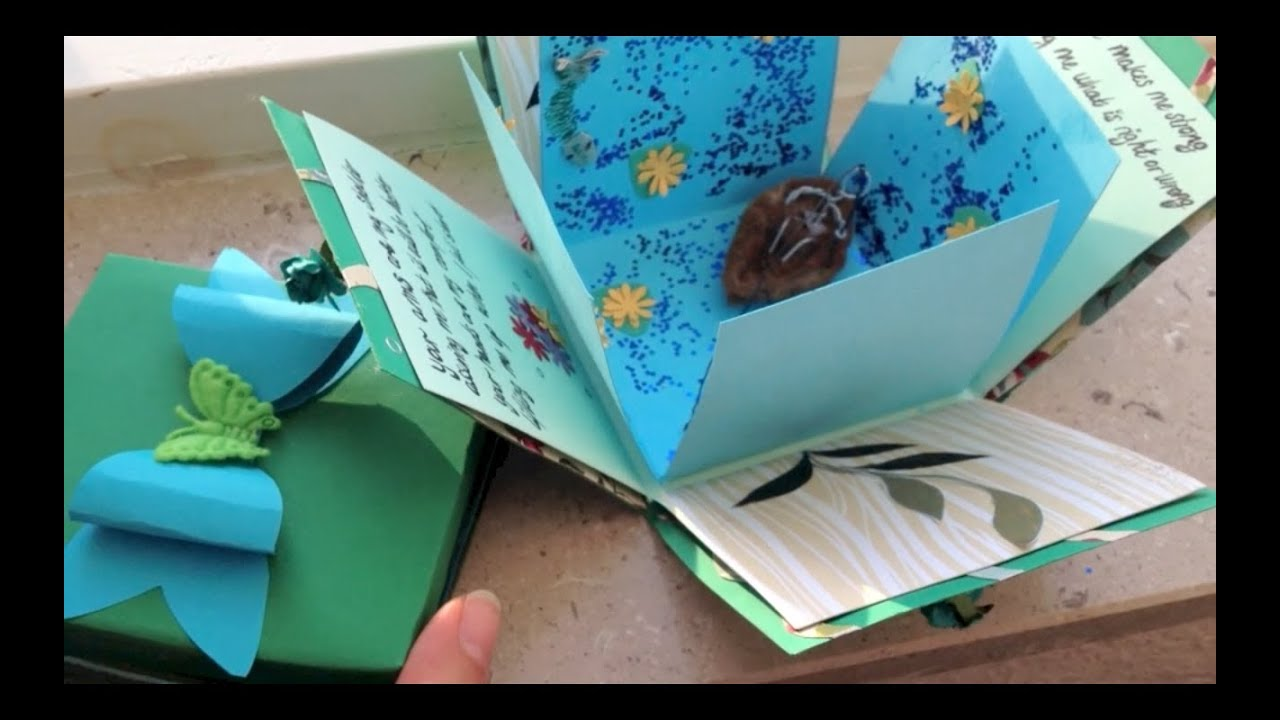 Exploding Box Card And Bow Diy Youtube