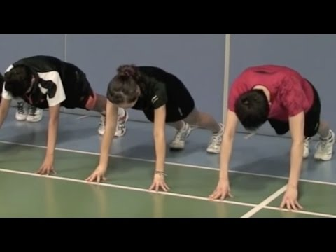 Badminton: Finger Power Training (2) Plank on Fingers and Toes Exercise