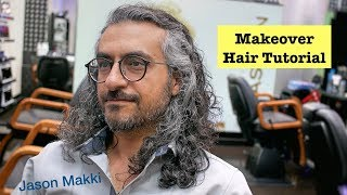Amazing Hair Transformation - Makeover Scissors Haircut - Long Hairstyle for men 2018 #22
