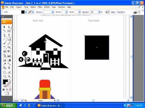Học thiết kế đồ họa Adoble illustrator phan 1