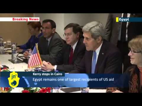 Kerry in Cairo: Top US Diplomat makes first trip to Egypt since Morsi's ouster